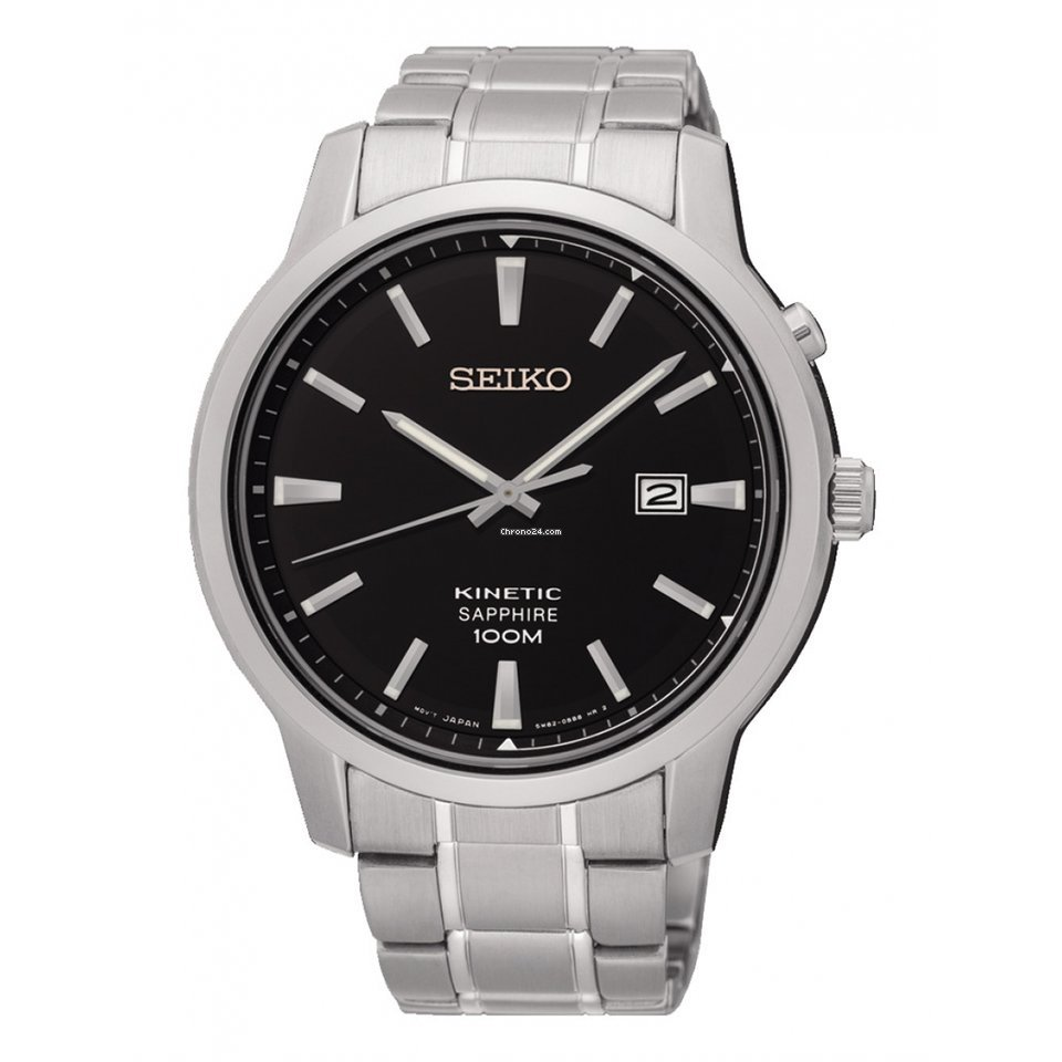 f4eac8376 Seiko Reloj SEIKO Neo Classic Hombre Plateado Acero Calendario for ...