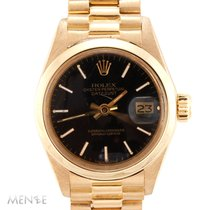Rolex Oyster Perpetual Lady Date Oro amarillo 26mm Negro
