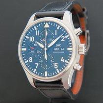 IWC Pilot Chronograph Staal 43mm Zwart Nederland, Maastricht
