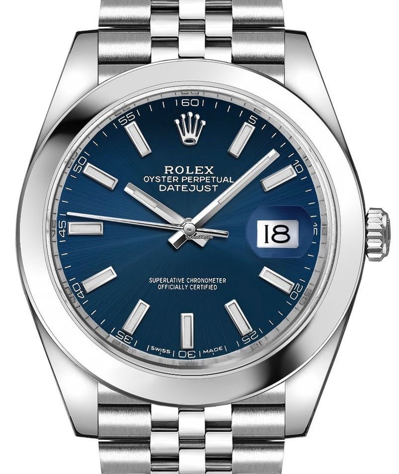 Rolex Datejust 41mm 126300 Blue Dial Jubilee Bracelet (NEW)