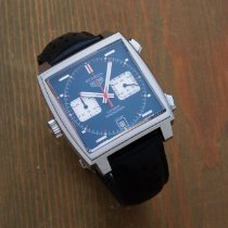 TAG Heuer Monaco Calibre 11 Steel 39mm Blue No numerals