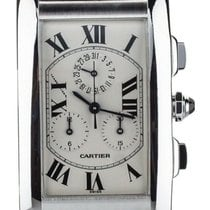 Cartier Tank (submodel) White gold 27mm Silver