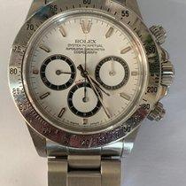 Rolex Daytona Stal 40mm Biały Bez cyfr