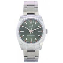 Rolex Oyster Perpetual 34 Stal 34mm Zielony