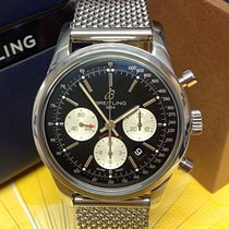 Breitling Transocean Chronograph Steel 43mm Black No numerals