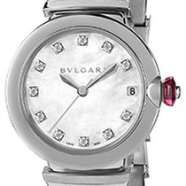 Bulgari Steel Automatic Mother of pearl new Lucea