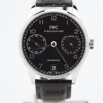 IWC Portuguese 7 Day Black Dial Automatic Iw5001 Pelaton...