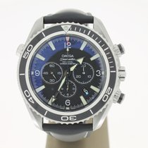 Omega Seamaster Planet Ocean Chronograph occasion 46mm Noir Cuir