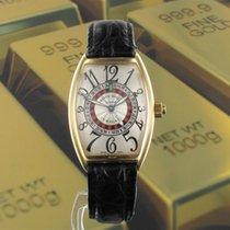 Franck Muller Vegas pre-owned 34mm Yellow gold