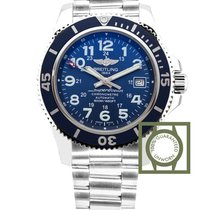 Breitling Superocean II 42 MM Automatic Blue Dial Full Steel...
