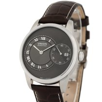 Union Glashütte Stål 41mm Automatisk D007.444.16.083.00 ny