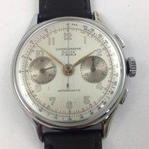 Chronographe Suisse Cie Stahl 37mm Handaufzug vintage gebraucht