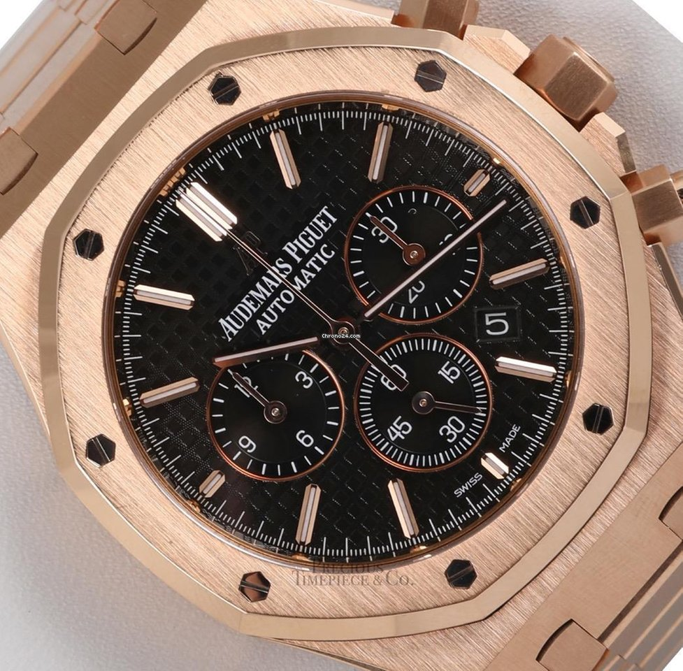 Rolex Audemars Piguet Royal Oak 18k Rose Gold Chronograph 41mm 26320or Oo 1220or 01