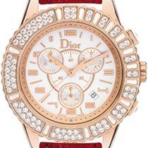 Dior Złoto różowe Kwarcowy Biały Arabskie 38mm nowość Christal