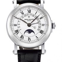 Patek Philippe Perpetual Calendar Platinum 36mm White Roman numerals