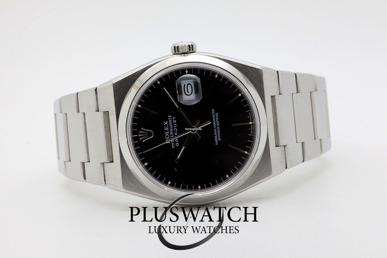 Oysterquartz 1987 Dial SerR 17000 Rolex Black Datejust GSVzUpqM