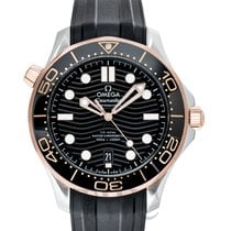 Omega Rose gold Automatic new Seamaster Diver 300 M