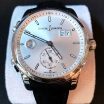 Ulysse Nardin Steel 42mm Automatic Dual Time new