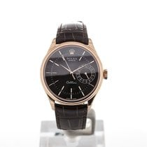 Rolex Cellini Date Or rose 39mm Noir Sans chiffres France, Paris