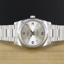 Rolex Oyster Perpetual 34 gebraucht 34mm Silber Stahl