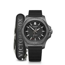 Victorinox Swiss Army Carbon 43mm Automatic 241866 Victorinox Swiss Army INOX Carbonio Nero Gomma Nera new