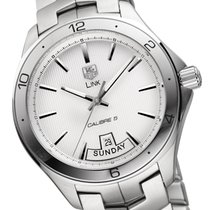 TAG Heuer Link Calibre 5 Steel 42mm Silver Arabic numerals