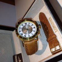 Longines Yellow gold Automatic new Lindbergh Hour Angle