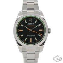Rolex Milgauss Green Glass | Full Set | Stainless Steel 116400