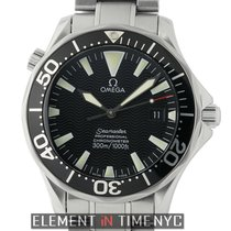 Omega Seamaster Stainless Steel Black Dial Black Bezel 41mm