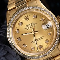 Rolex 31mm Presidential Champagne Dial/Diamond Bezel 68278