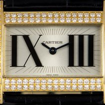 Cartier Tank Divan Yellow gold 31mm Silver Roman numerals
