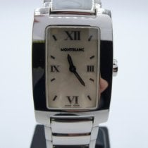Montblanc Profile pre-owned 24mm Champagne Steel