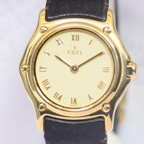 Ebel 1911 gebraucht 24mm Gold Datum Leder