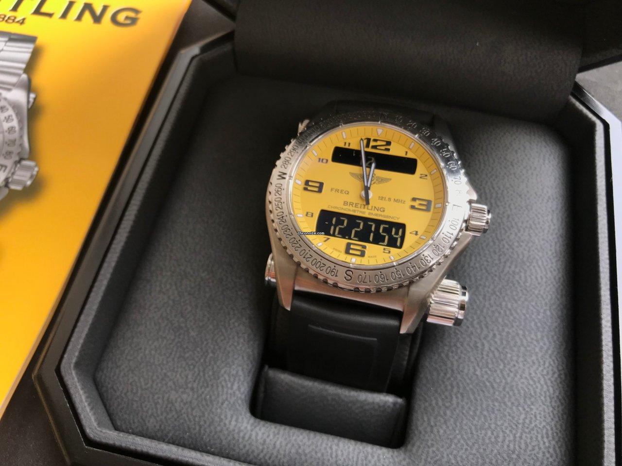 ae2cb437279 Breitling Emergency - Todos os preços de relógios Breitling Emergency na  Chrono24