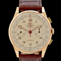 Chronographe Suisse Cie Or rouge Remontage manuel Arabes 37.5mm occasion