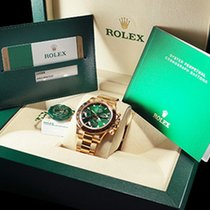 Rolex DAYTONA YELLOW GOLD GREEN DIAL NEW 2017