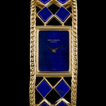 Patek Philippe pre-owned Manual winding Gemstone 25mm Yellow gold Sapphire Glass