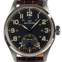 Glycine KMU 48 Kriegs Marine Uhren Manual Wind Steel Mens...