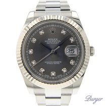 Rolex Datejust II Fluted Rhodium Diamonds