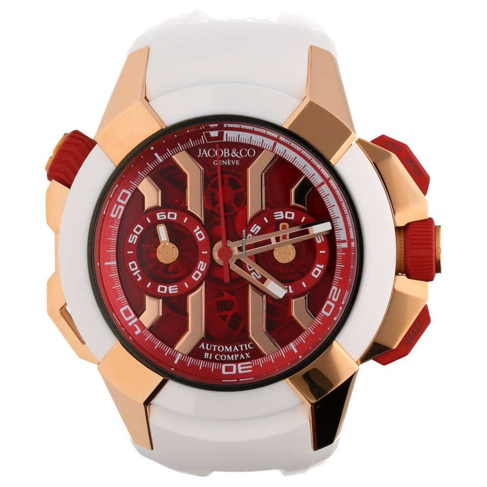 jacob co epic x chrono rose gold case red dial f r kaufen von einem seller auf. Black Bedroom Furniture Sets. Home Design Ideas