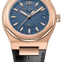 Girard Perregaux Laureato Rose gold 38mm Blue