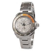 Seiko Prospex Steel Silver Arabic numerals