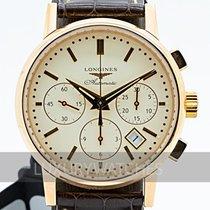 Longines Kronograf 36mm Automatisk 2016 begagnad Column-Wheel Chronograph Champagnefärgad