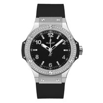 Hublot Big Bang 38 mm Steel 38mm Black Arabic numerals