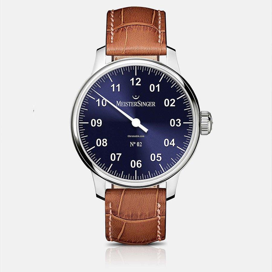 Meistersinger Men's AM6608N N.02 Blue Dial Watch