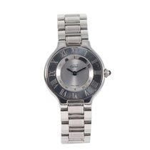 Cartier 21 Must de Cartier pre-owned 28mm Grey Steel