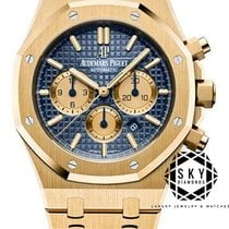 Audemars Piguet Royal Oak Chronograph Gelbgold 41mm Blau Keine Ziffern