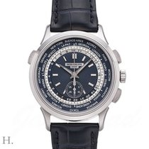 Patek Philippe World Time Chronograph Weißgold 39.5mm Blau Deutschland, Bamberg