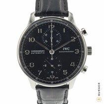 IWC Portuguese Chronograph Staal 41mm Zwart Arabisch Nederland, Maastricht