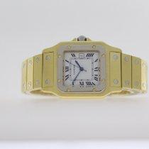 Cartier Gelbgold Automatik Weiß Römisch 29mm gebraucht Santos (submodel)